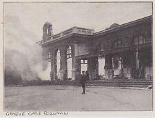 1909  --  SUISSE  GENEVE LA GARE CORNAVIN EN FEU   3F064