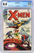 S021. X-MEN #49 Marvel CGC 8.0 VF 1968 1st App of POLARIS (Lorna Dane) & MESMERO
