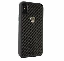 Lamborghini ELEMENTO D3 Carbon iPhone XS Max Schutzhülle Back Case Cover Schwarz