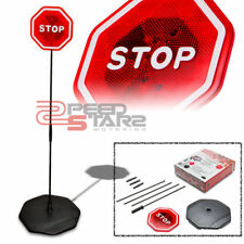 """50.75"""" CAR GARAGE PARK STOP SIGN MOTION FLASH/FLASHING LED LIGHT+AG-13 BATTERIES"""