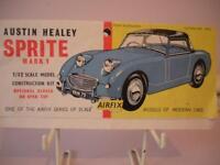 Airfix Header Instructions for early Austin Healey Sprite MK1 plastic model kit