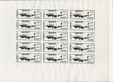 Harry Fox Tampa Kunst Post 1980s Mail Art Layout Sheet CCCP Boeing 747 Atistamps