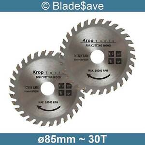 Erbauer Circular Saw Blade Fine Cut TCT 85mm x 15mm x 30T by KROP (2 Pack)