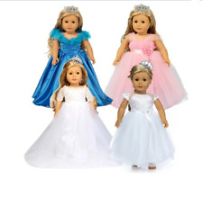 Clothes for doll Elegant White Wedding Dress For American Girl Doll 18 inch Doll