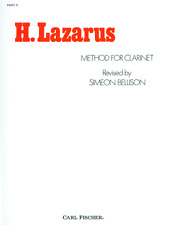 """H. LAZARAS Method for Clarinet-Pt. II"" INSTRUCTIONAL MUSIC BOOK-NEW ON SALE!!"