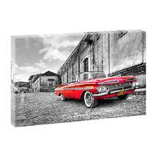 Chevrolet sw rot-Bild  Leinwand Wandbild Poster Kunstdruck  XXL 100 cm*65 cm 015