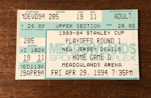 1994 NHL Playoffs Buffalo Sabres Playoff Ticket Stub vs New Jersey Devils