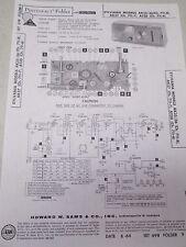 Sams Photofact Folder Radio Parts Manual Sylvania AK35/36 AK37 AT30 Clock