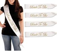 Gold Luxury Hen Night Do Party Sashes Bride To Be Bridesmaid Mother Maid Sash