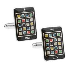 MOBILE PHONE CUFFLINKS Smartphone Black Novelty iPhone Design NEW w GIFT BAG