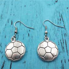 Soccer earrings,Silver handmade ear stud,Fashion charm jewelry pendants,Gift