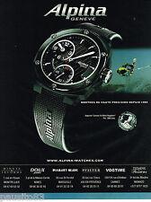 PUBLICITE ADVERTISING 065  2007  La montre  AVALANCHE  REGULATOR  ALPINA