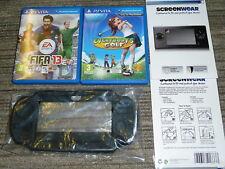 SONY PS VITA LOTTO FIFA 13 Rowland Golf 2 Giochi in scatola carrello console CASE dello schermo
