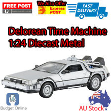 1 24 Diecast Metal Delorean Time Machine X 3 Back to The Future - WELLY