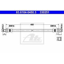 ORIGINAL ATE Bremsschlauch Ford Transit Bj.71-78