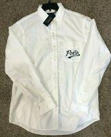 Ralph Lauren Men's SZ S Classic Fit Oxford Button Down Shirt Polo Pocket White