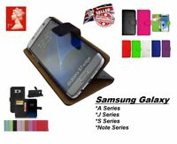 MAGNETIC FLIP LEATHER WALLET CASE COVER FOR SAMSUNG A3 A5 J3 J5 2016 / 2017