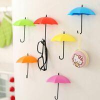 Key Hanger Rack Storage Hook Up Decorative Wall Holder Umbrella Shaped Organizer