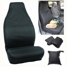 Universal Van Car Seat Covers Black Throw Over Wear Prevention Durable Washable