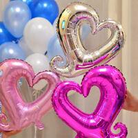 Fj- Lk _ Romantico Amore Cuore Palloncini ad Elio in Foil Compleanno Festa di