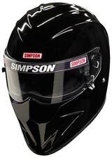 SIMPSON DIAMONDBACK HELMET SNELL SA2015 GLOSS BLACK XL X-LARGE 62cm 7 3/4 FIA M6
