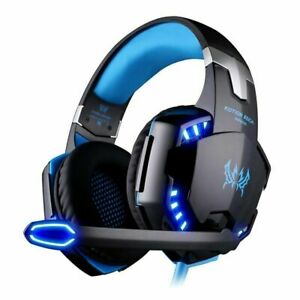 Gaming Headset USB Wired LED Headphones Stereo with Mic For PC Desktop & laptop