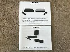 Bose Lifestyle 235 Set up Guide and Operating Guide