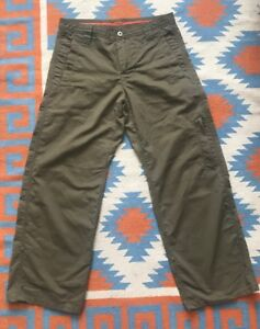 PrAna Roll Up Hiking Outdoor Olive Green Pants Women's Size 34