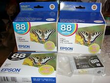 2 set of EPSON 88 INK CARTRIDGES CYAN MAGENTA YELLOW BLACK