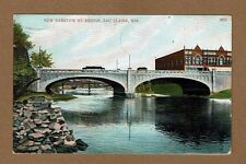 Eau Claire,WI Wisconsin New Barstow St. Bridge used 1907