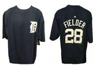 New Prince Fielder #28 Detroit Tigers Mens XL-2XL-Tall Majestic Navy Shirt