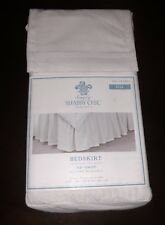 SIMPLY SHABBY CHIC SOLID WHITE BED SKIRT FULL SIZE TRUE WHITE