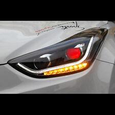 LED Xenon HID Devil Eye Head lights lamp For Hyundai Elantra MD 2014~2015