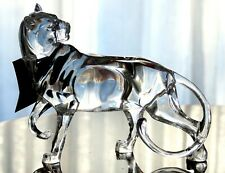 NEW GORGEOUS SOLID ACRYLIC HUNTING MOUNTAIN LION PUMA COUGAR FIGURINE SCULPTURE