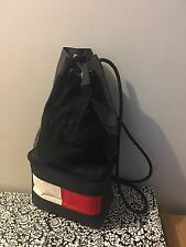 Vtg TOMMY HILFIGER Drawstring Insulated Lunchbox Combo Backpack Bag Blue