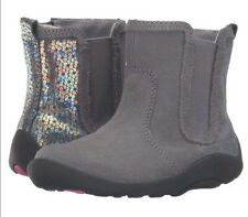 NEW STRIDE RITE Boots Estefana Gray Sequin 4 M ORIGINAL MSRP $49