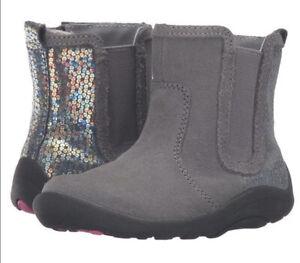 NEW STRIDE RITE Boots Estefana Gray Sequin 4 M ORIGINAL MSRP $49