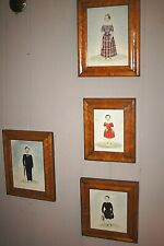 Antique 1800 FOLK ART PORTRAIT PAINTINGS 2 Brothers 2 Sisters Great Collection
