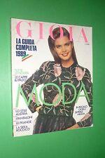 GIOIA 39/1988 MODA JOAN COLLINS MARGAUX HEMINGWAY ROMINA POWER EILEEN FORD
