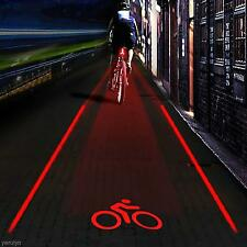 Cool Outdoor 5 LED 2 Laser Bike Bicycle Rear Tail Lamp LOGO Projection Lights