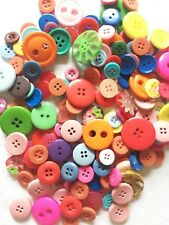 150 Muti Coloured Ridged Mixed Button In Medium to Large Sizes