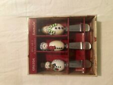 Set of 3 Oneida Snowman Spreaders Snowmates Stainless Steel Dip & Cheese Knives