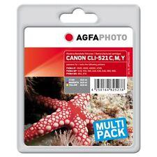 APCCLI521TRID-CLI-521 CARTUCCE RIGENERATE AGFAPHOTO PER CANON PIXMA MP560