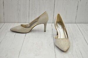 Bandolino Greti Pointed Toe Pumps, Women's SIze 7M, Silver - NEW