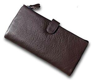 Ladies BLACK Leather 19cm Wallet