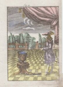 1685 Mallet Engraving of Astronomer