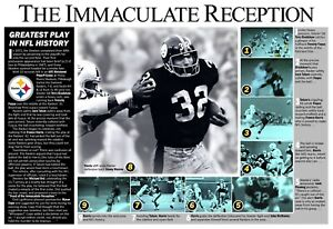 THE IMMACULATE RECEPTION: GREATEST PLAY IN NFL HISTORY COMMEMORATIVE POSTER