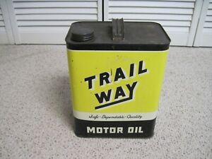 RARE TRAIL WAY MOTOR OIL 2 GALLON  CAN DEEP VALLEY OIL CO.  NR