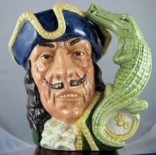 """Royal Doulton Character Jug """"Capt. Hook""""  D6597 - Style One"""