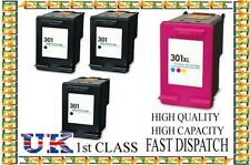 4 HP 301 Black & Colour Ink Cartridges For HP 301 Envy 4500 4502 4504 4505 4507